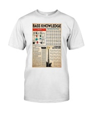 Guitar Bass Knowledge Classic T-Shirt tile