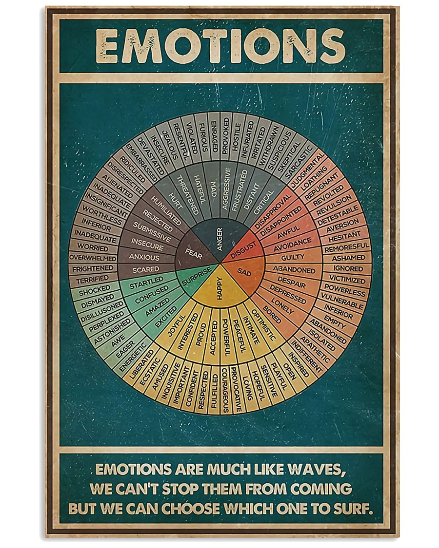 Emotions Are Much Like Waves 11x17 Poster