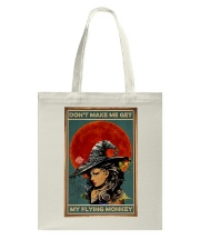 Vintage Witch Halloween Tote Bag thumbnail