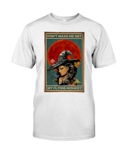 Vintage Witch Halloween Classic T-Shirt thumbnail