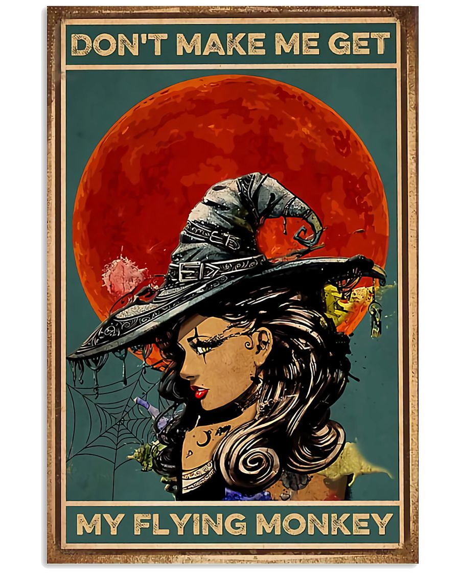 Vintage Witch Halloween 11x17 Poster
