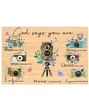 Photography God Says You Are 17x11 Poster front