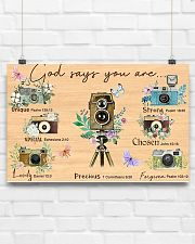 Photography God Says You Are 17x11 Poster poster-landscape-17x11-lifestyle-17