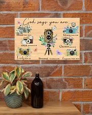 Photography God Says You Are 17x11 Poster poster-landscape-17x11-lifestyle-23
