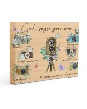 Photography God Says You Are 14x11 Gallery Wrapped Canvas Prints thumbnail