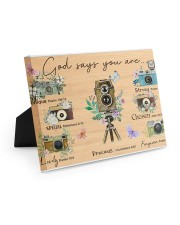 Photography God Says You Are 10x8 Easel-Back Gallery Wrapped Canvas thumbnail