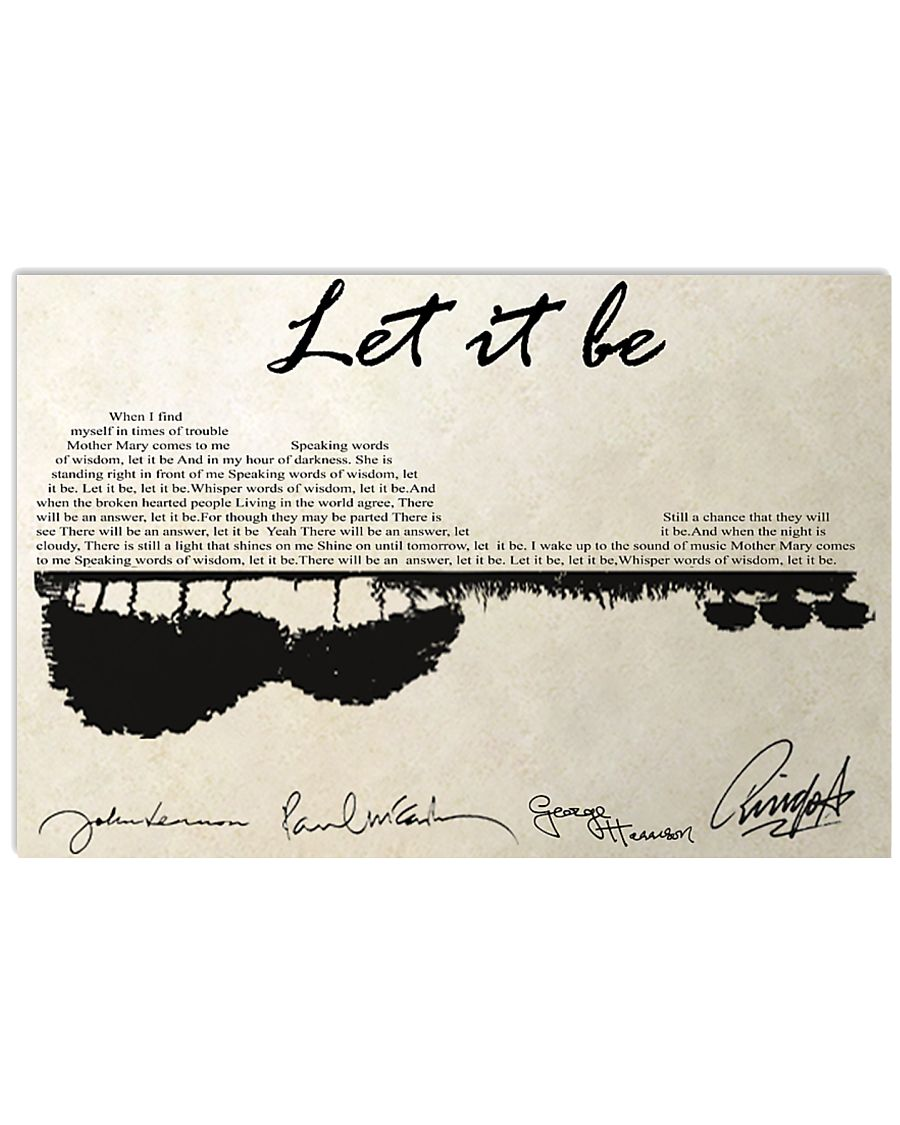 Let It Be 17x11 Poster