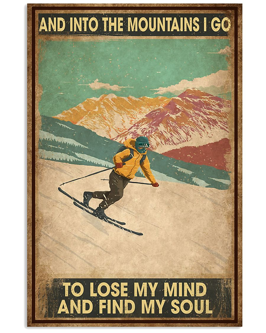 He Loves Skiing 11x17 Poster