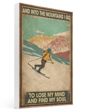 He Loves Skiing 16x24 Gallery Wrapped Canvas Prints thumbnail