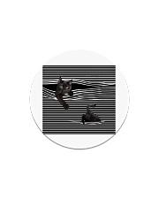 Window Cat Circle Magnet thumbnail