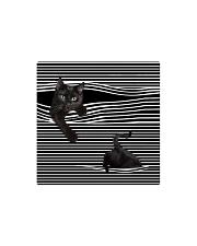 Window Cat Square Magnet thumbnail