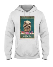 Raccoon Some Shut The Fucupcakes Hooded Sweatshirt tile