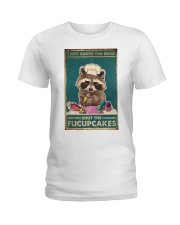 Raccoon Some Shut The Fucupcakes Ladies T-Shirt thumbnail
