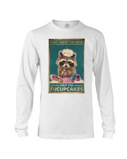 Raccoon Some Shut The Fucupcakes Long Sleeve Tee thumbnail