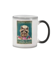 Raccoon Some Shut The Fucupcakes Color Changing Mug tile