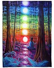 "Meditation In The Woods Large Fleece Blanket - 60"" x 80"" thumbnail"