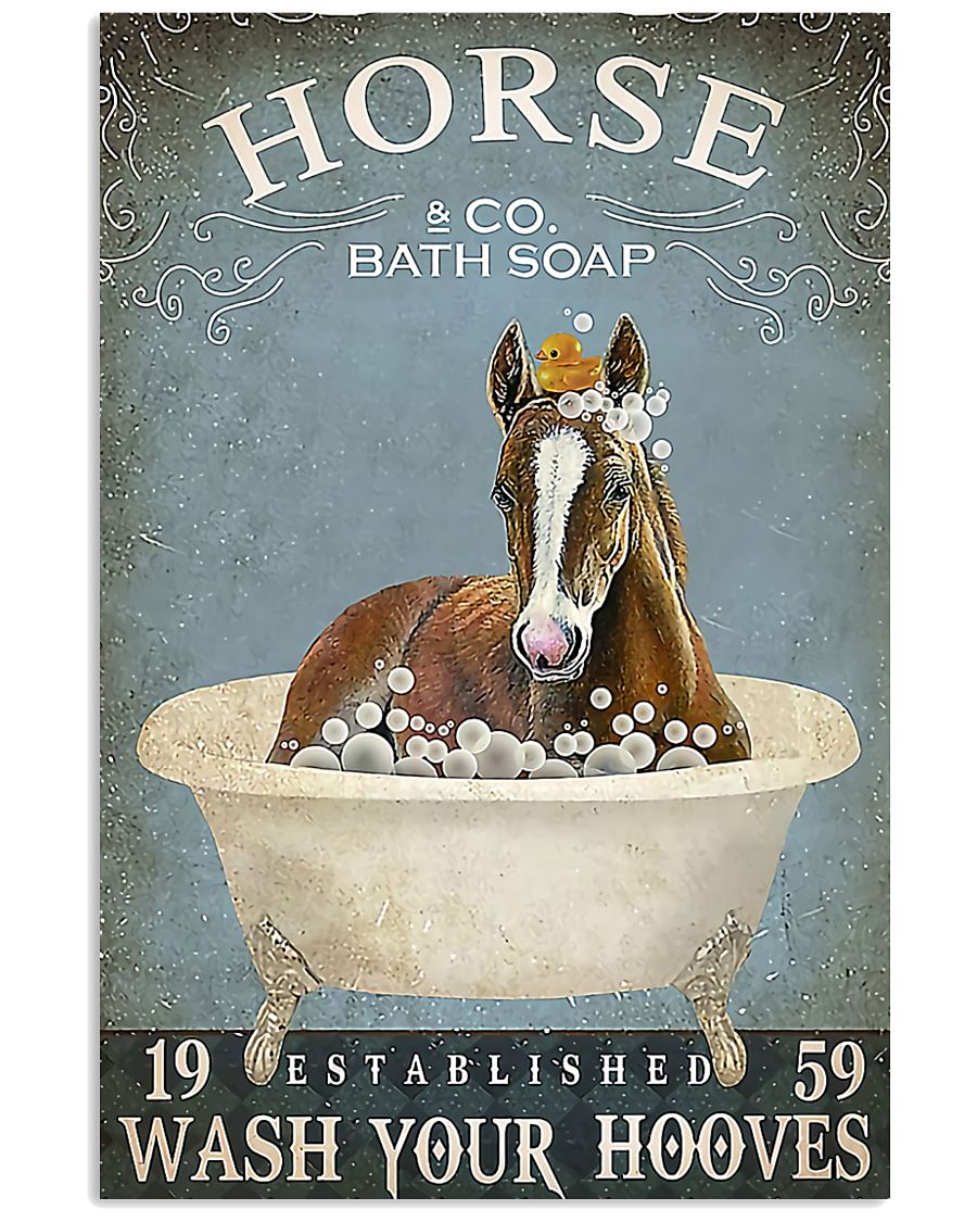 Horse Girl Horse Bath Soap Wash 11x17 Poster