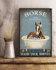 Horse Girl Horse Bath Soap Wash 11x17 Poster lifestyle-poster-3