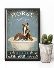 Horse Girl Horse Bath Soap Wash 11x17 Poster lifestyle-poster-8