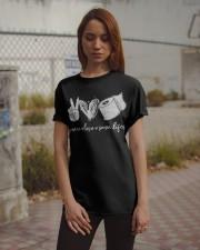 Peace Love Save Lifes Classic T-Shirt apparel-classic-tshirt-lifestyle-18