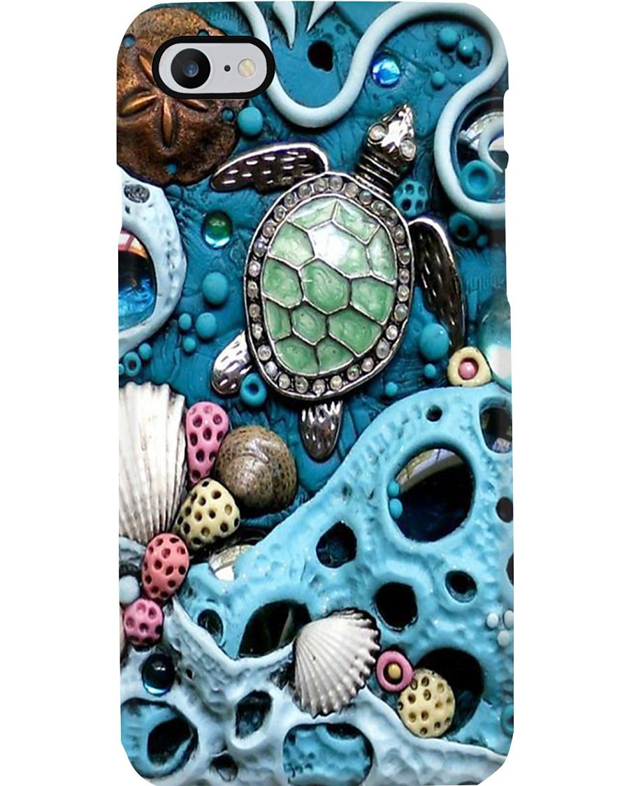 Turtle In Ocean Phone Case