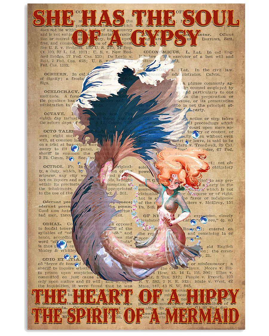 Hippie Mermaid 11x17 Poster