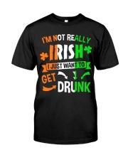 Irish Drunk Classic T-Shirt front