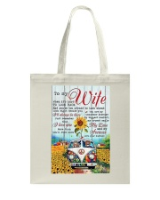 To My Wife Hippie Tote Bag thumbnail