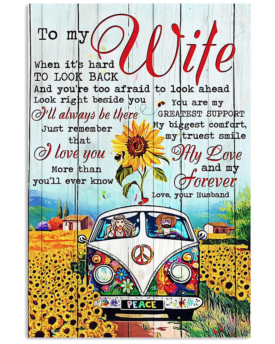 To My Wife Hippie 11x17 Poster