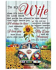 To My Wife Hippie 11x17 Poster front