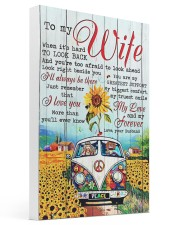 To My Wife Hippie 16x24 Gallery Wrapped Canvas Prints thumbnail
