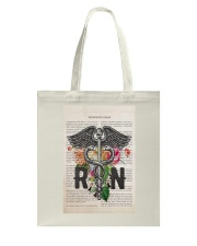 RN with Flowers Tote Bag thumbnail
