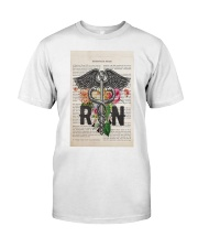 RN with Flowers Classic T-Shirt thumbnail