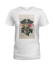 RN with Flowers Ladies T-Shirt thumbnail
