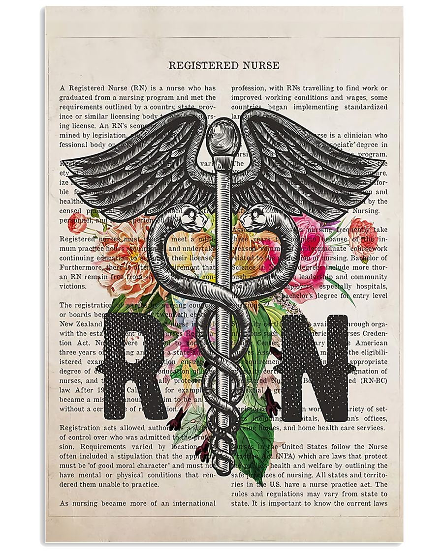 RN with Flowers 11x17 Poster
