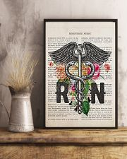 RN with Flowers 11x17 Poster lifestyle-poster-3
