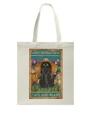 Easily Distracted By Cats And Garden Tote Bag thumbnail