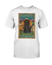 Easily Distracted By Cats And Garden Classic T-Shirt thumbnail