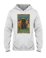 Easily Distracted By Cats And Garden Hooded Sweatshirt thumbnail