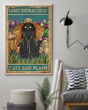 Easily Distracted By Cats And Garden 11x17 Poster lifestyle-poster-1