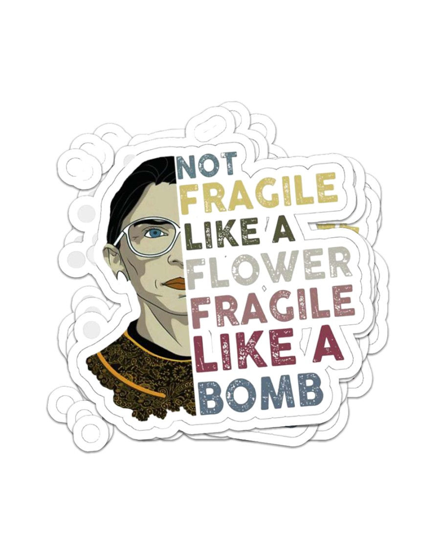 Fragile Like a Bomb Sticker - 4 pack (Vertical)