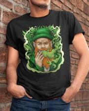 Smoking Leprechaun Classic T-Shirt apparel-classic-tshirt-lifestyle-26