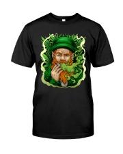 Smoking Leprechaun Classic T-Shirt front