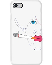 Smoking girl Phone Case tile