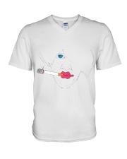 Smoking girl V-Neck T-Shirt thumbnail