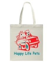 Happy Life Pets Totes Tote Bag back
