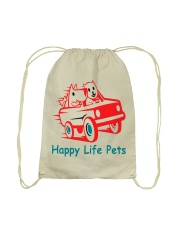 Happy Life Pets Totes Drawstring Bag back