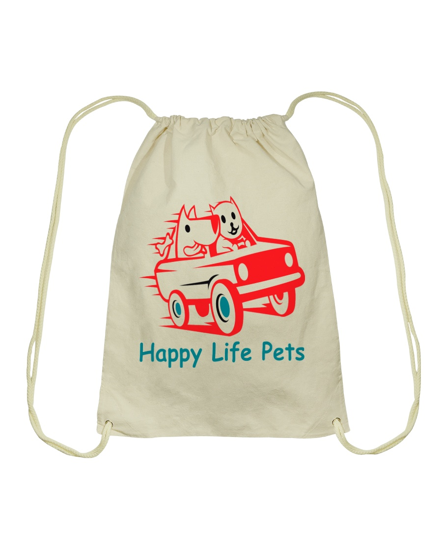 Happy Life Pets Totes Drawstring Bag