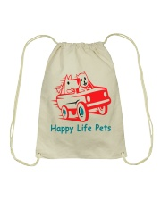 Happy Life Pets Totes Drawstring Bag front