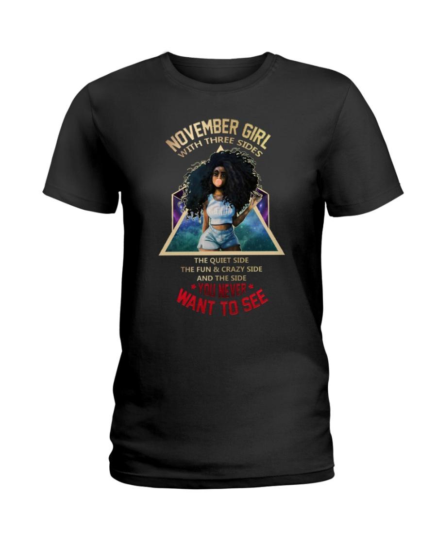 NOVEMBER GIRL - NOVEMBER BIRTHDAY - BORN IN NOVEMB Ladies T-Shirt